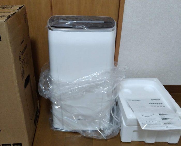 除湿機梱包箱の中身
