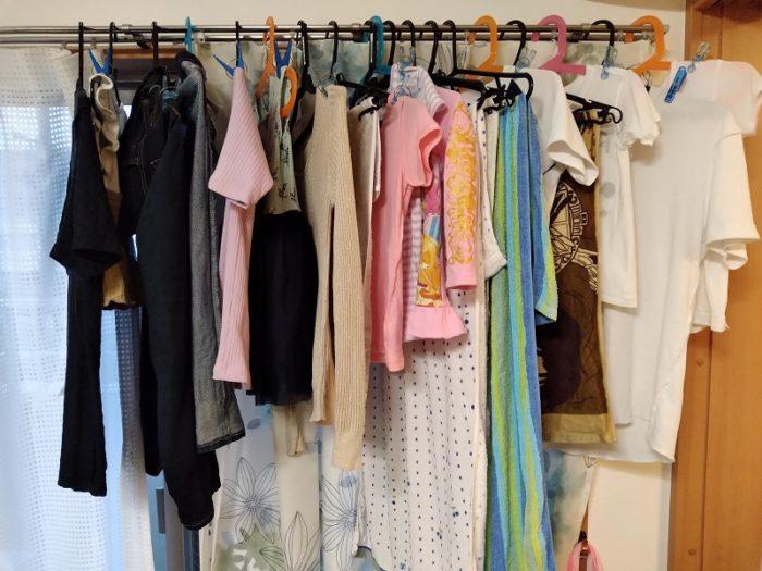 衣類乾燥状態